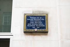 Photo of Michael Faraday blue plaque