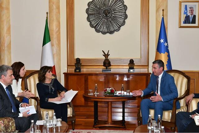 The President of Italian Senate visited KFOR