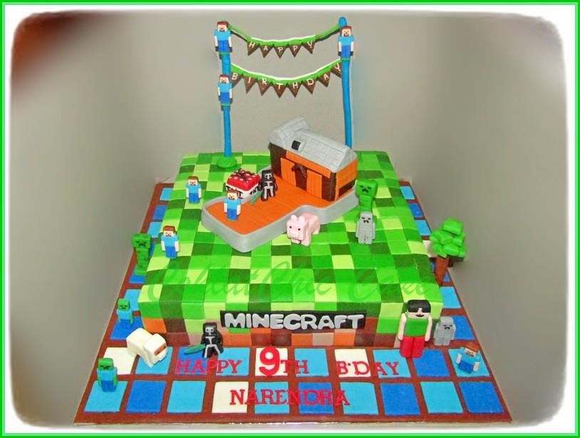 Cake Minecraft NARENDRA 30 cm
