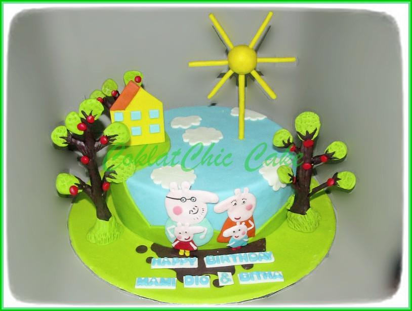 Cake Peppa The Pig 20 cm Mami Dio & Bitha