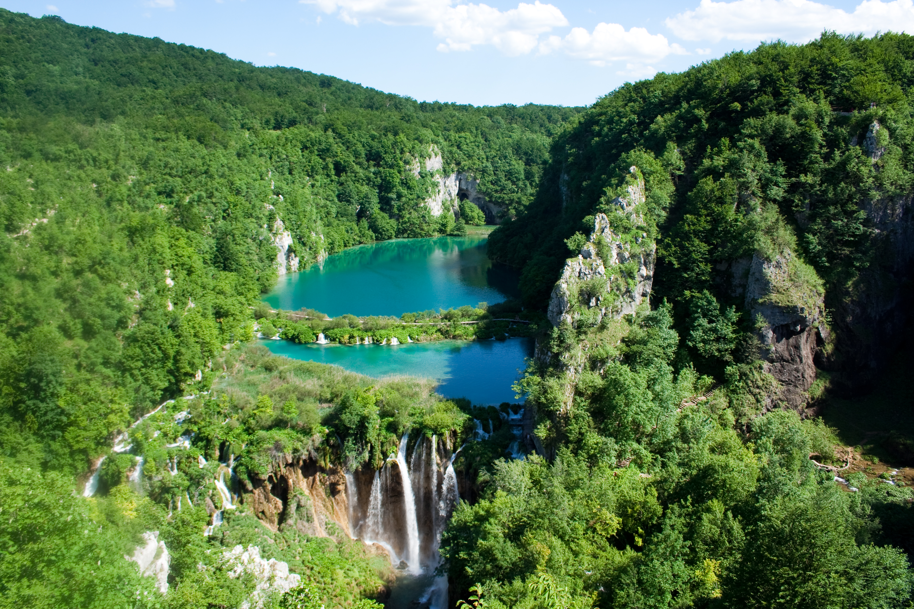 Plitvice Lakes National Park, a UNESCO World Heritage Site. Photo taken on June 9, 2010.