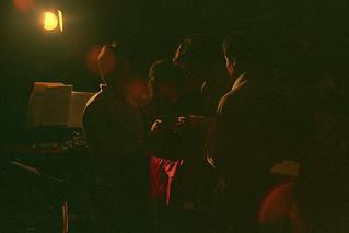 The scene backstage