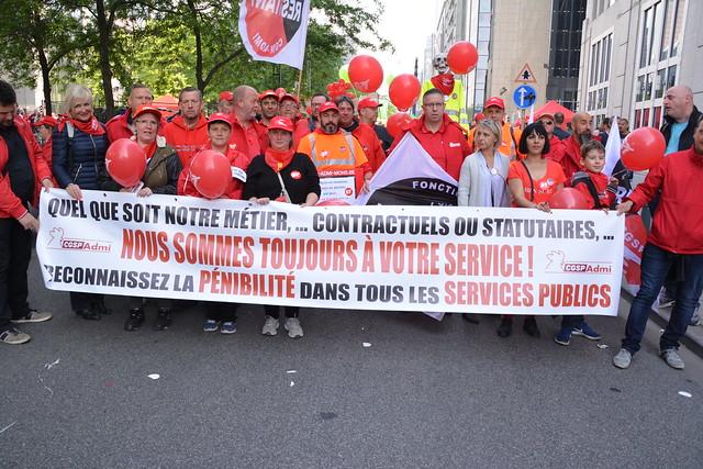 Bruxelles le 16 mai 2018 marche pour les pensions