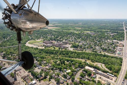 Aerial View of U.S. 40, Looking West