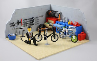 LEGO bike mechanic's workshop | by AzureBrick