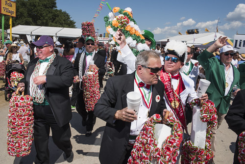 The Louisiana Irish - Italian Parade during Jazz Fest Day 7 on May 5, 2018. Photo by Ryan Hodgson-Rigsbee RHRphoto.com