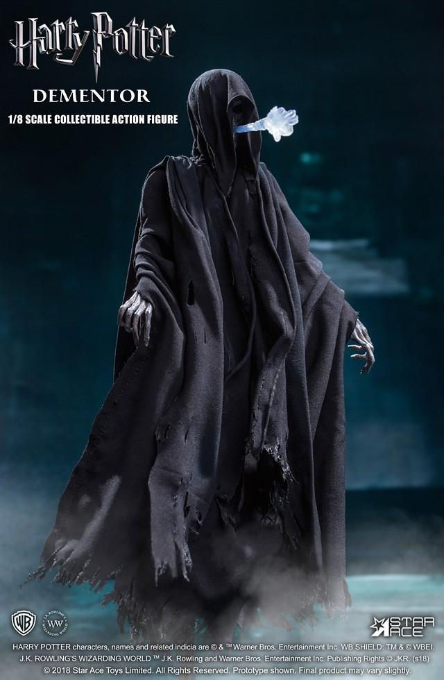 可以再現「催狂魔之吻」,太恐怖啦~! Star Ace Toys Real Master 系列《哈利波特:阿茲卡班的逃犯》催狂魔 Dementor 1/8 比例可動人偶作品