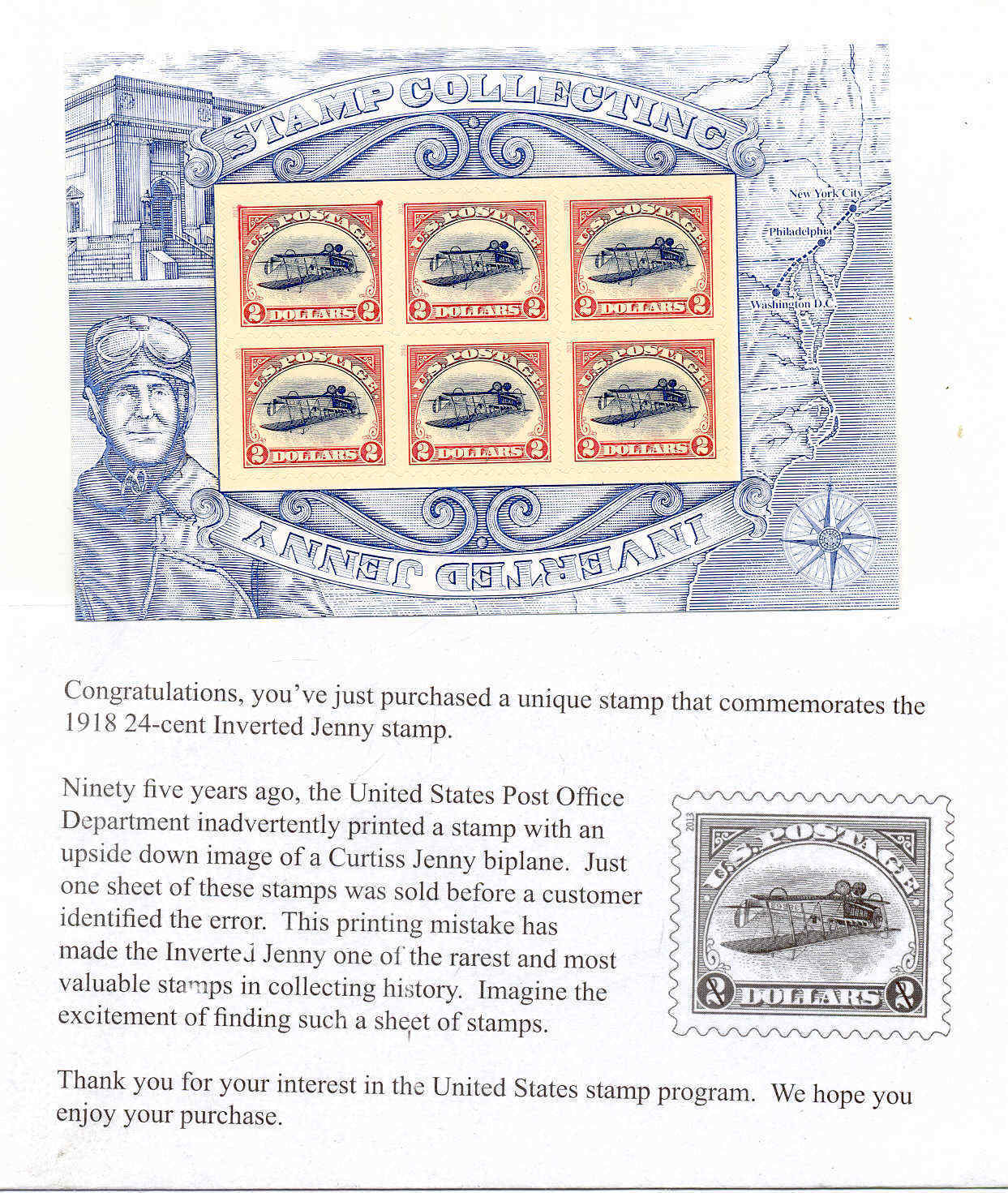 United States - Scott #4806 (2013) full souvenir sheet and descriptive card; image from active eBay auction [NIMC: 2018]