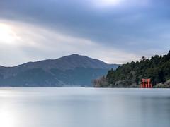 Torii Gates on the Lake - Hakone