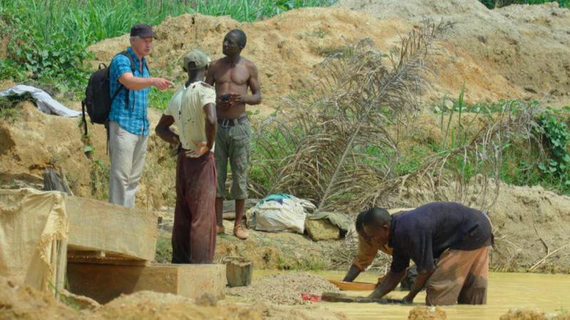 Roy Maconachie overlooks a diamond mine