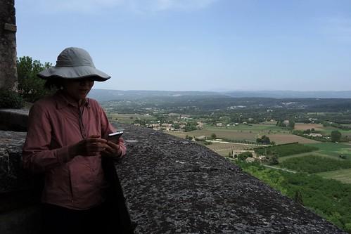 Walking in the Petit Luberon above Menerbes, France