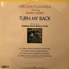 HIROSHI FUJIWARA:TURN MY BACK(JACKET B)