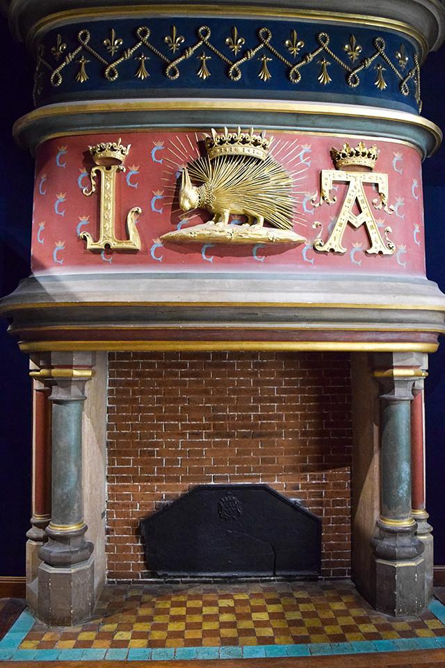 Royal Fireplace at Château de Blois #loire #france #chateau #travel