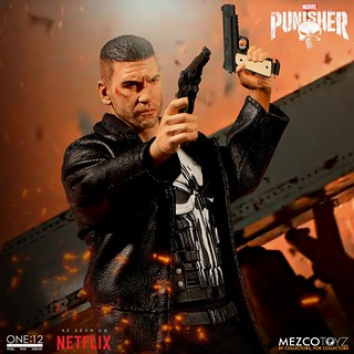 罰叔以影集版造型再登場!! MEZCO ONE:12 COLLECTIVE 系列《制裁者》制裁者 Punisher 1/12 比例人偶作品