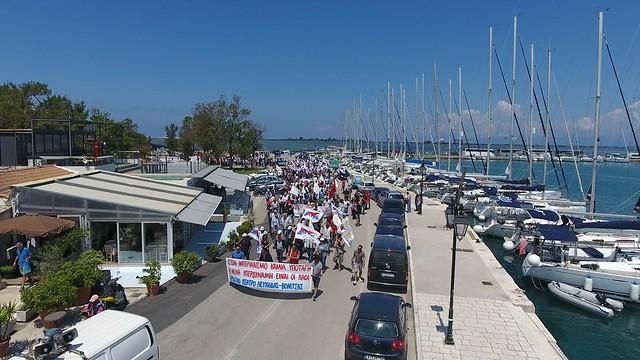 Πορεία Ειρήνης στη βάση Ακτίου και στη Λευκάδα