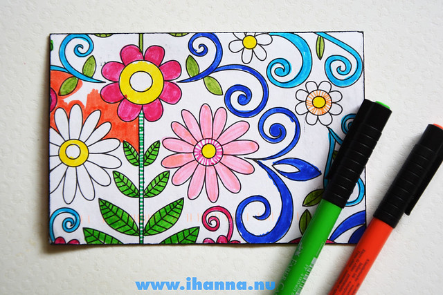 Color-in-Postcard - During the process