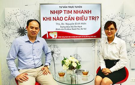 Ths.Bs Nguyễn Đình Hiến tư vấn trực tuyến về cách điều trị nhịp tim nhanh