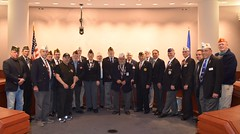 Reps. Simanski and Yaccarino stand with Veterans in support SB 289