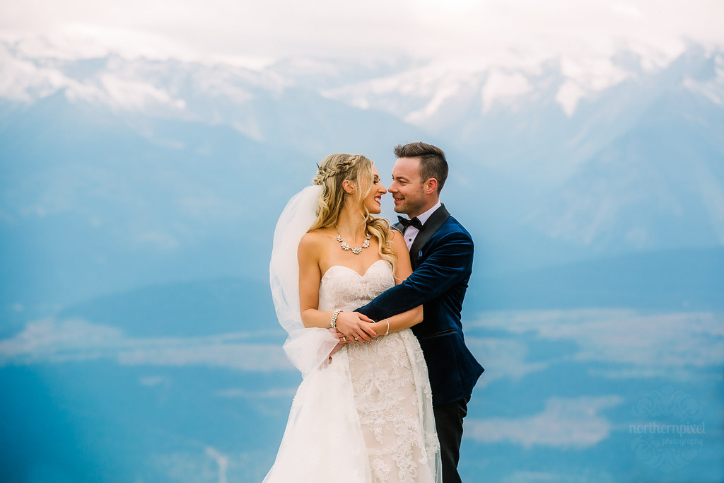 Mountaintop Newlywed Couple Photography