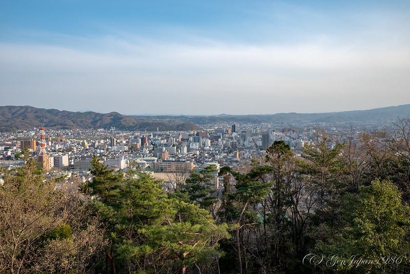 信夫山からの景色