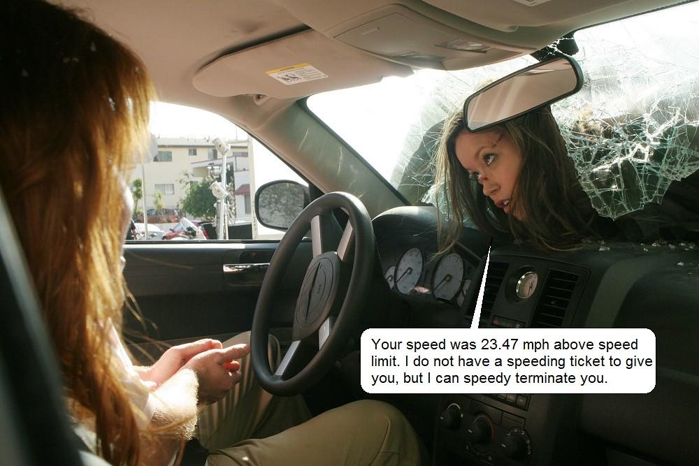 Summer Glau tscc cameron speeding ticket terminator funny