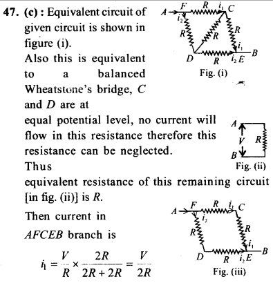 NEET AIPMT Physics Chapter Wise Solutions - Current Electricity explanation 47