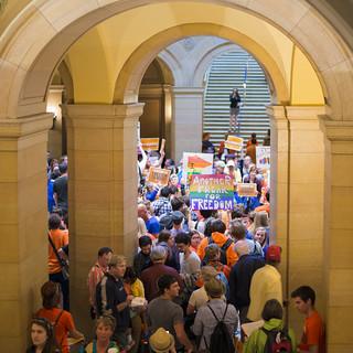 Same sex marriage vote in the Minnesota Senate