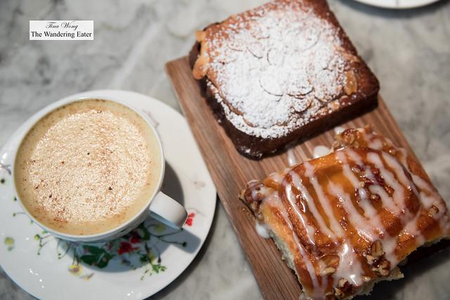 Tumeric chai and almond brioche and sticky bun