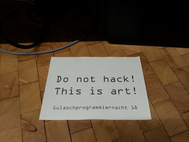 Do not hack! This is art!