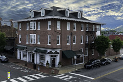 Downtown Fredericksburg Virginia. a piece of painful history