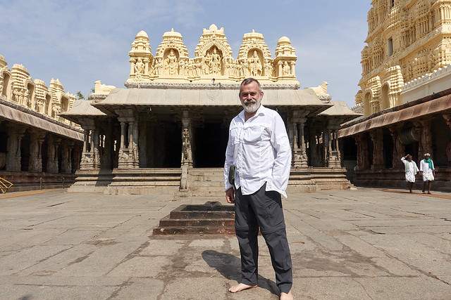 Barefoot in the temple