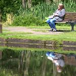 Sat in the park at Preston