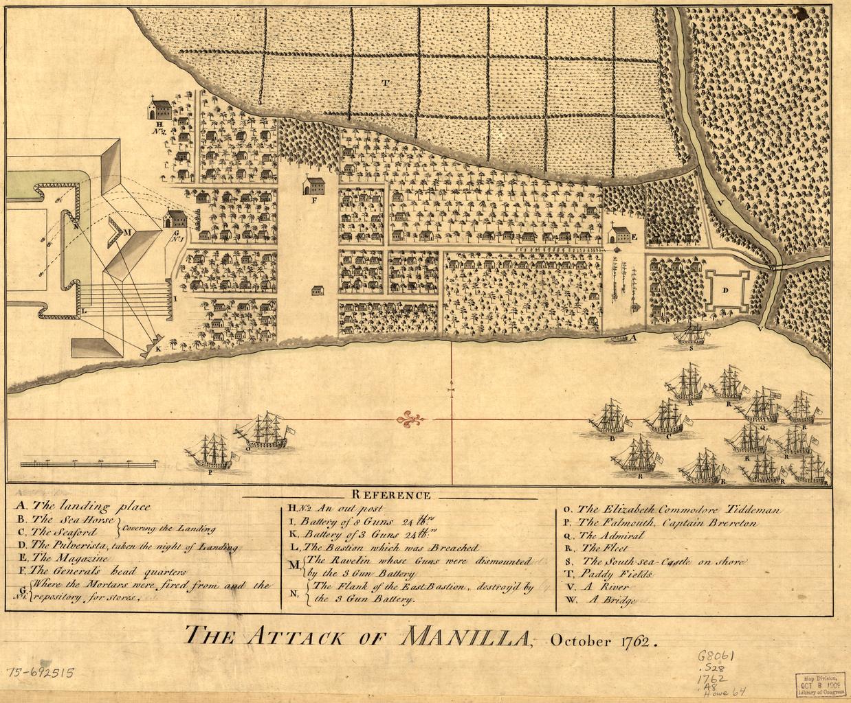 British attack on Manila, September-October 1762.