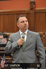 Rep. Sampson speaking on House floor May 4, 2018.