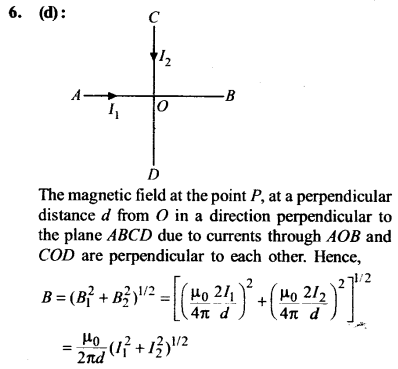 NEET AIPMT Physics Chapter Wise Solutions - Moving Charges and Magnetism explanation 6
