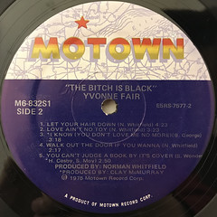 YVONNE FAIR:THE BITCH IS BLACK(LABEL SIDE-B)