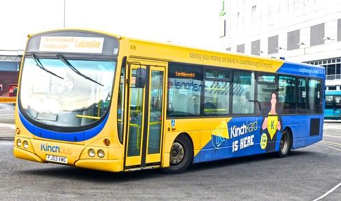 FJ03 VWG 'Kinchbus' No. 618, 'kinchkard'. Scania L94UB / Wright Solar on Dennis Basford's railsroadsrunways.blogspot.co.uk'