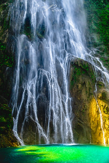 Sunrise waterfall