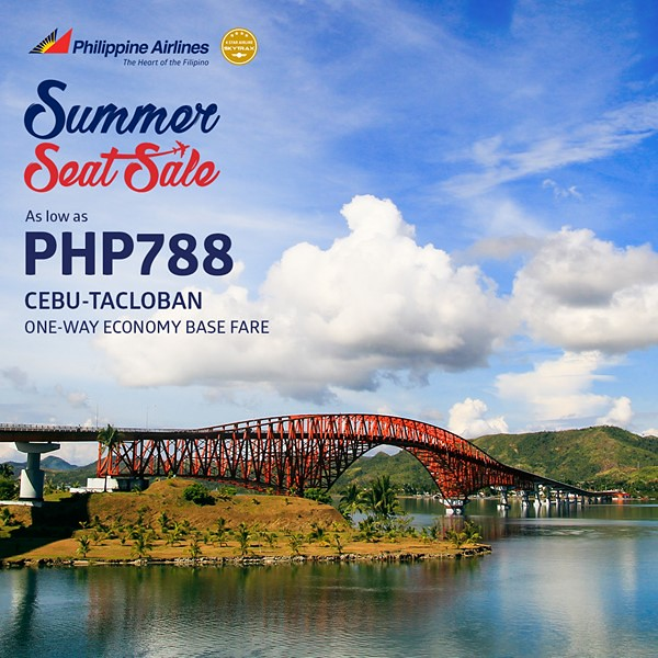 Philippine Airlines Summer Seat Sale Cebu to Tacloban