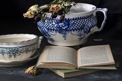 Pots, Books & Flower
