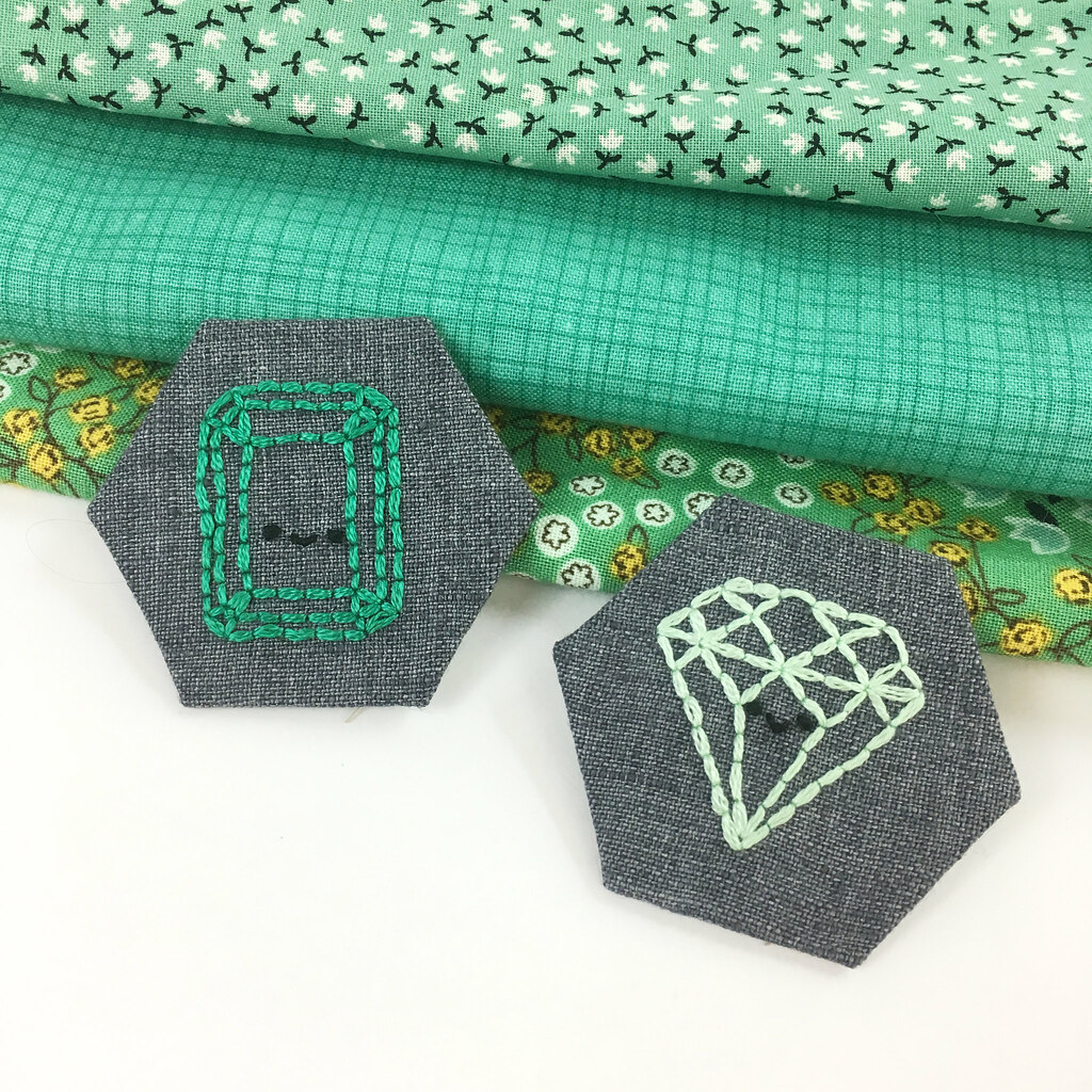May Emerald Birthstone Embroidery Pattern