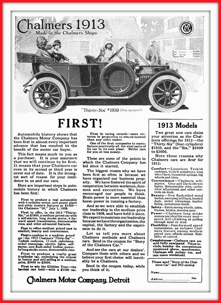 Michigan | by 1913 September Chalmers 1913 Models - Chalmers Motor Co., Detroit. Michigan | by