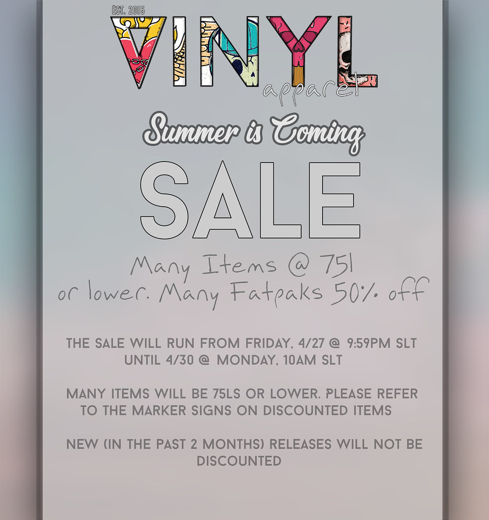 Vinyl Summer Sale!
