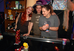 20170827 0121 - Rainbow Party #9 - Brown - Carolyn, Clint, Beth - L-C-R - DSC_2099-(by Sideshow Bob)-Clint's last male picture!!!!!!!!