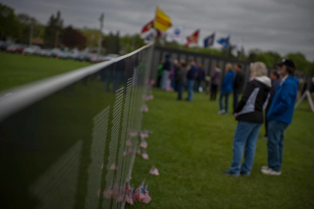 Minnesota National Guard leaders visit traveling tribute in Austin