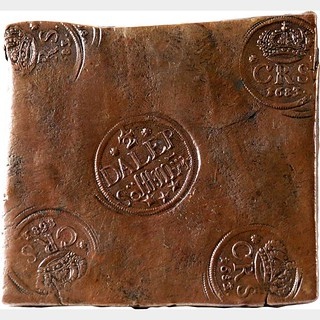 1683 Swedish plate money one half daler