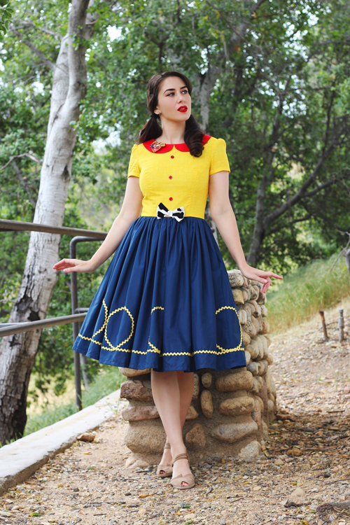 Vintage Inspired by Jackie Peter Pan Collar Sheriff Woody Disneybound Inspired Dress