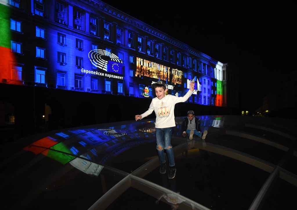 Europe Day 3D Mapping Show in Sofia