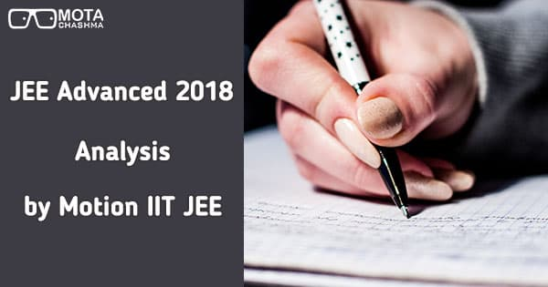 jee advanced analysis by motion iit jee