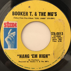 BOOKER T. & THE MG'S:HANG 'EM HIGH(LABEL SIDE-A)